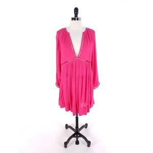 Free People Go Lightly Plunging Boho Dress